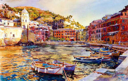 Painting - Vernazza Sunset